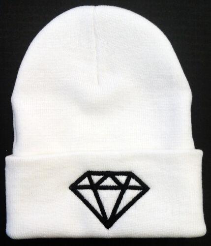 ***DIAMOND*** DIAMOND SUPPLY CO DMND SUPREME Cuff Beanie Cap Hat **WHITE**