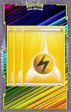 Energie Electrique x3 - Cartes Pokemon Neuve Française - NRJ - Jaune