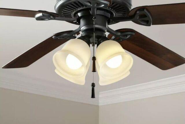 Single Light Ceiling Fan Light Kit Universal 4 Fitter Black For Sale Online Ebay
