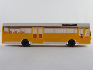 Wiking-702-Mercedes-Benz-O-405-1984-2001-in-gelb-weiss-1-87-H0-NEU-unbespielt