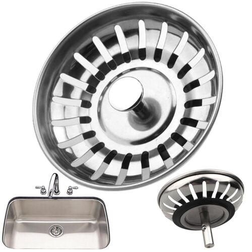 Premium Kitchen Sink Replacement Drain Waste Plug Basin Strainer Drainer 78mm UK