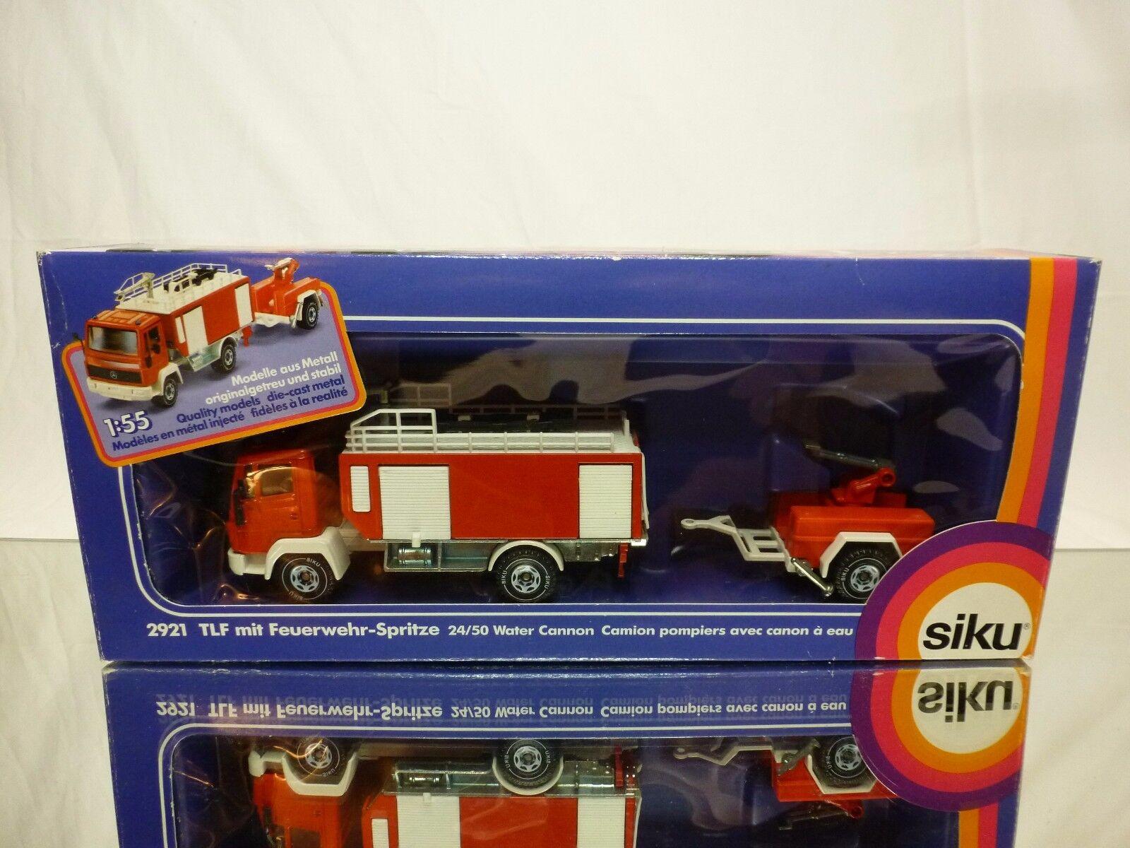 SIKU 2921 MERCEDES BENZ TRUCK + WATER CANON FIRE BRIGADE rojo 1 55 - GOOD IN BOX