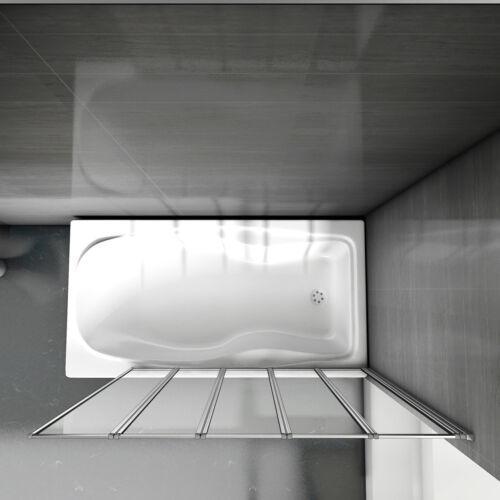 5-teilig 120x140cm Badewannenfaltwand Faltwand Duschabtrennung Badewannenaufsatz