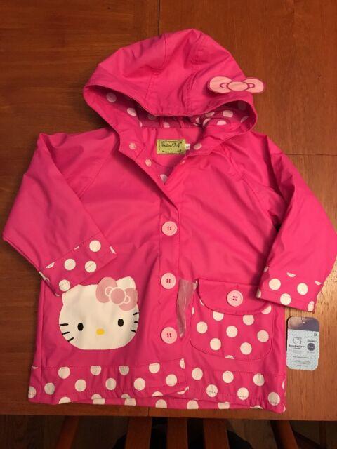 Western Chief Girls Rain Coat Hello Kitty Cutie Dot 3T