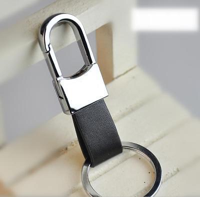 2015 New Fashion Black Leather Strap Keyring Keychain Key Chain  GOCA