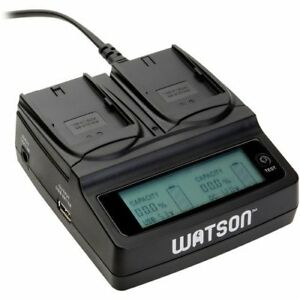 USED-Watson-Duo-LCD-Charger-w-Two-LP-E6-LP-E6N-Battery-Plates-MISSING-ADAPTER
