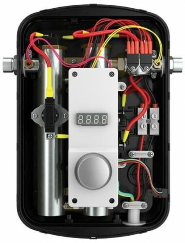 Electric Tankless Water Heater Indoor Wall Mount Residential Self-Modulating