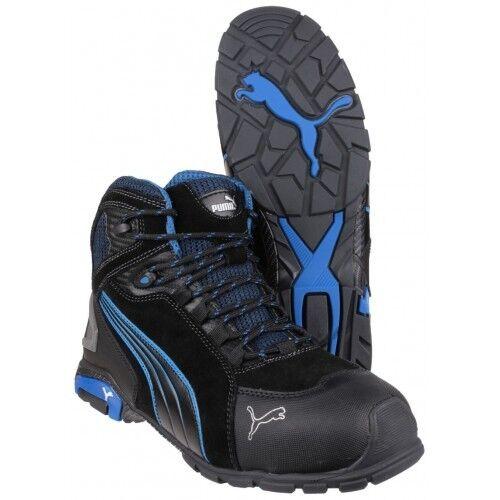 48b954449886 PUMA Rio Mid Safety Work BOOTS Black 632250 Sizes 6-12 S3 Toecap   Midsole  11 UK 46 EU