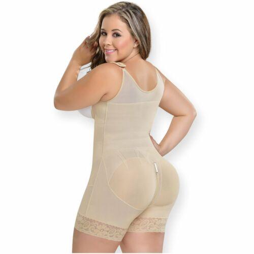 Powernet ORIGINAL Fajas M/&D 0083 Mid Thigh Bodysuit Body Shaper for Women