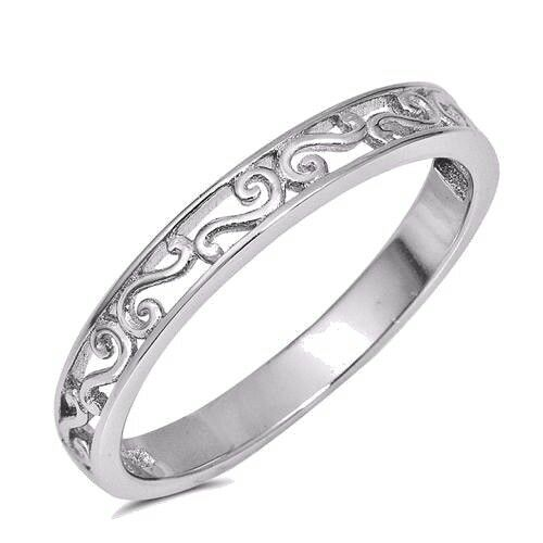 USA vendeur filigrane Band Ring sterling silver 925 Best Price Jewelry Sélectionnable