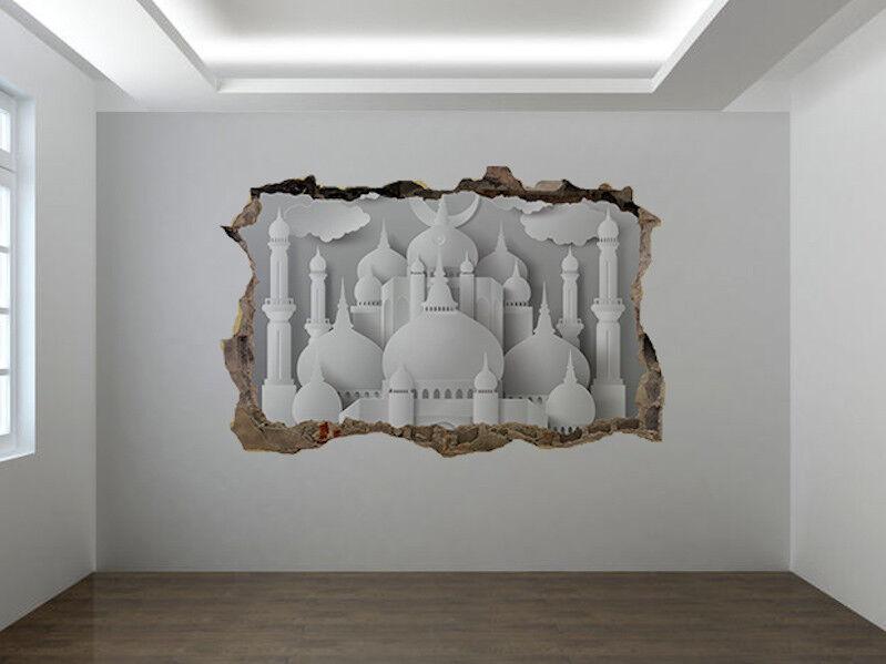 Papier Mosquée Photo Trou dans Autocollant Autocollant Autocollant Mural Décoration Murale (42869936)   La Mode  d69846