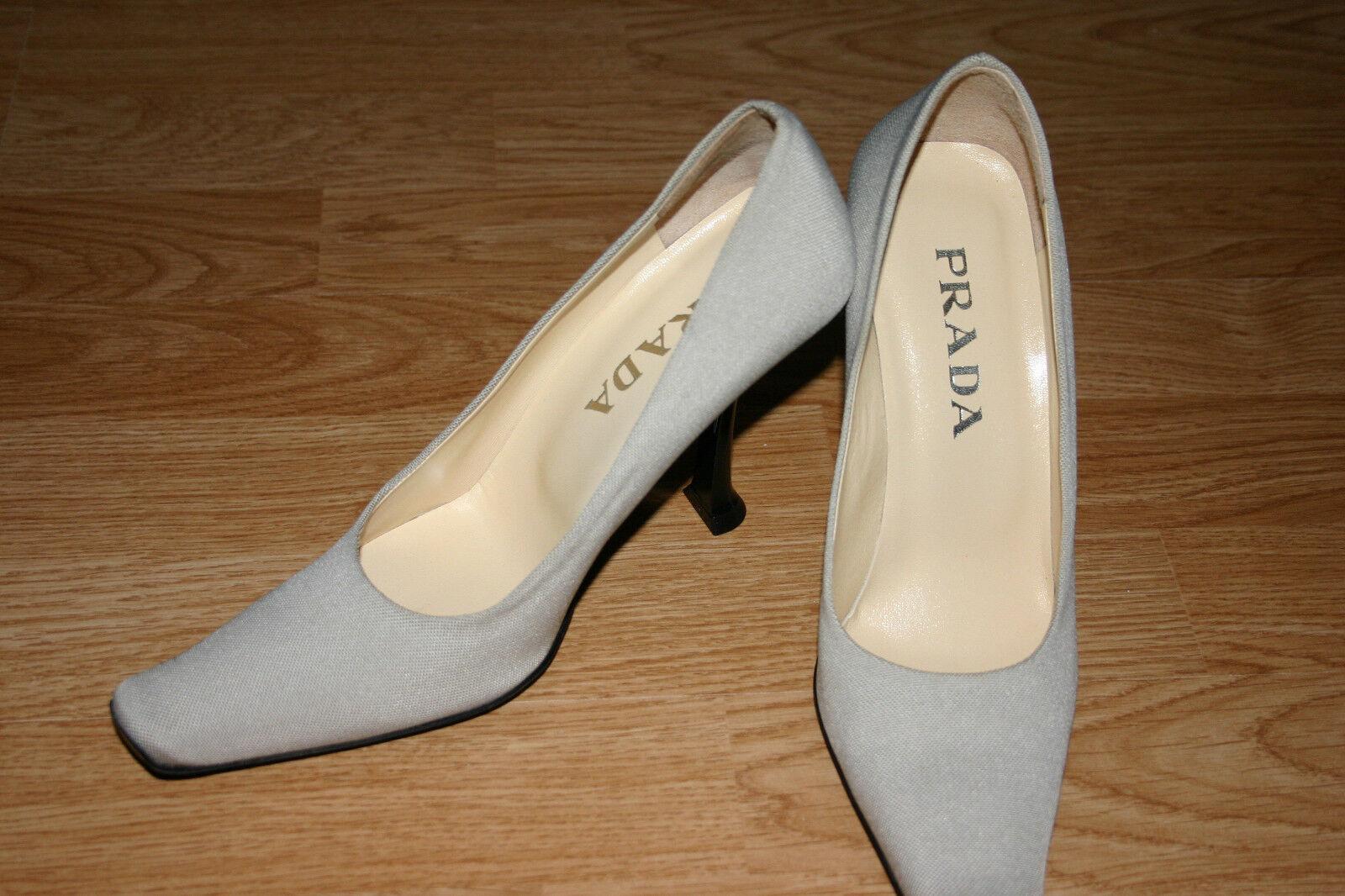 Nuevo Prada Prada Prada tan Tacones pumpszapatos Talla 37.5  para proporcionarle una compra en línea agradable