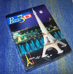 Puzz 3d Paris Eiffel 3d Puzzle sur Hauteur 1 m!!! RARE Fissurer-afficher le titre d`origine scPcsanU-08123917-548158094