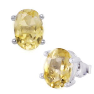 1-7ct-Oval-Yellow-Citrine-Sterling-Silver-Stud-Earrings