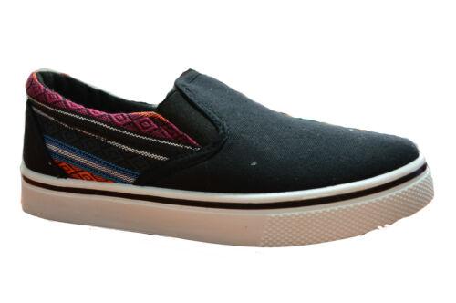 Boys Slip On Trainers Pumps Casual Espadrilles Deck Shoes Summer Kids UK 1-6