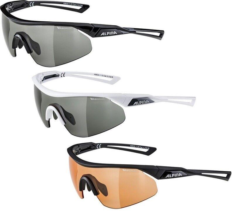 Alpina Nylos Nylos Nylos Shield VL Fahrradbrille photochromatisch, Varioflex, 100% UV-Schutz 61746f