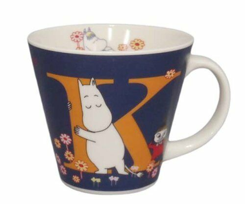 K k40475 New Moomin initial Mug cup MM630-11K Made in Japan