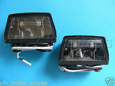 2 x Number Plate Lamps pre-wired for trailer horsebox & caravans  #TR