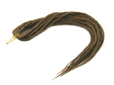 ELYSEE STAR DREADS #12 LIGHT GOLDEN BROWN DREADLOCKS DOUBLE ENDED SYNTHETIC