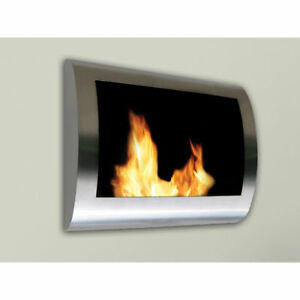 anywhere fireplace chelsea indoor wall mount fire place stainless rh ebay com
