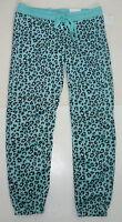 Womens Aeropostale Lld Leopard Cinch Fleece Pj Dorm Sweat Pants 7186