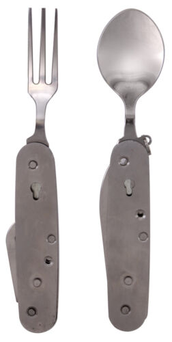 Pliant Chow Set d/'urgence Camping Fourchette Cuillère Couteau Ouvre-boîtes Rothco 2033