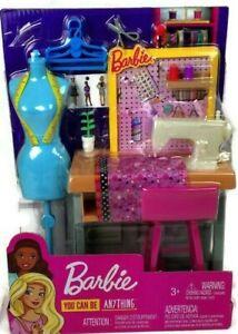 Barbie Sewing Studio Play Set Clothing Careers Fashion Designer Toys Kid New 887961696967 Ebay