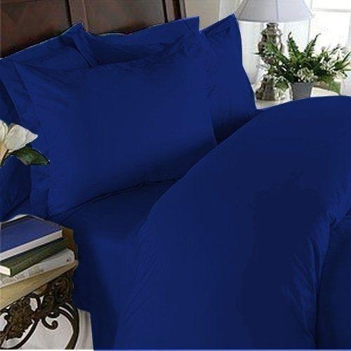 NEW Elegant Comfort 1500TC Egyptian Quality 4pc Bed Sheet Sets, King, Royal bluee