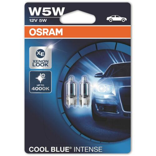 Osram Cool Blue Intense W5W 501 Halogen 12V Sidelight Number Plate Car Bulbs