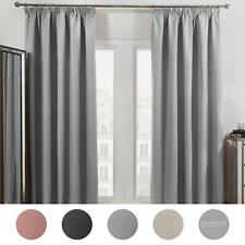 Dreamscene Pencil Pleat Blackout Curtains PAIR of Ready Made Thermal Tape Top