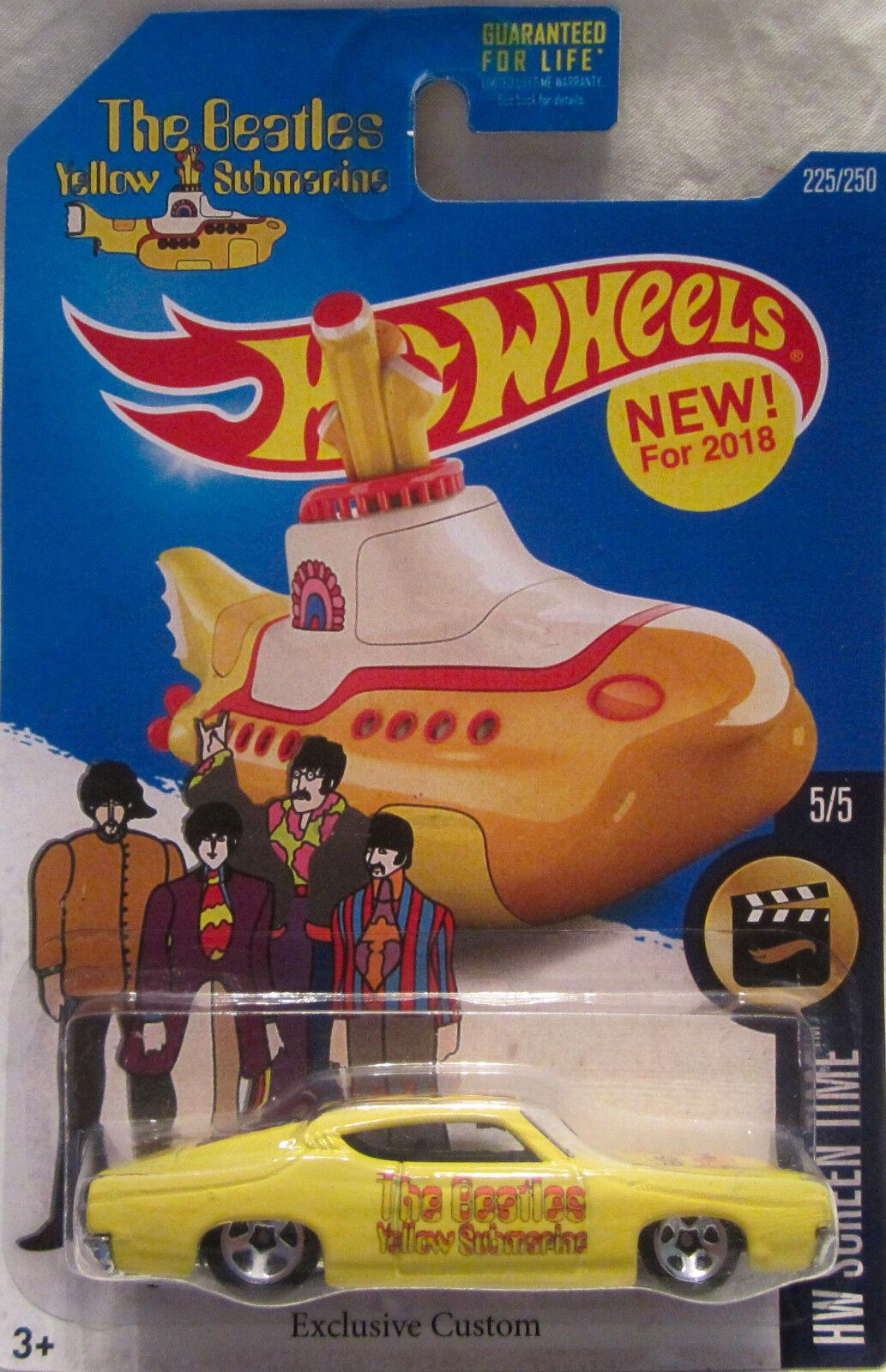 Hot Wheels Personnalisé Ford Torino Tailledega The Beatles Jaune Sous-Marin