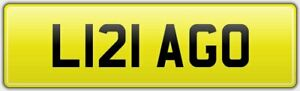 LIZA-GO-OLD-STYLE-CAR-REG-NUMBER-PLATE-ALL-FEES-PAID-L121-AGO-LISA-LIZ-LEESE