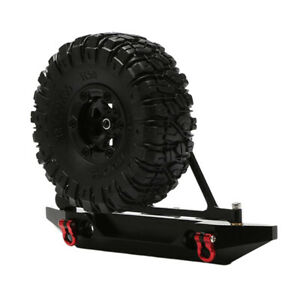 Metal-Rear-Bumper-with-Tire-Rack-amp-Tire-for-Axial-SCX10-1-10-RC-Crawler