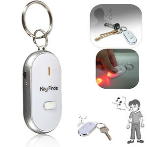 Details about  /Anti-Lost Key Finder Whistle Beep Sound Control LED Torch Find Locator Keychain