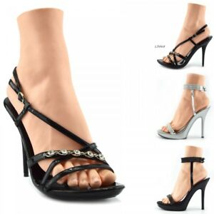 35042196664 New Womens Platform Fashion Shoes High Heel Party Wedding Ankle ...