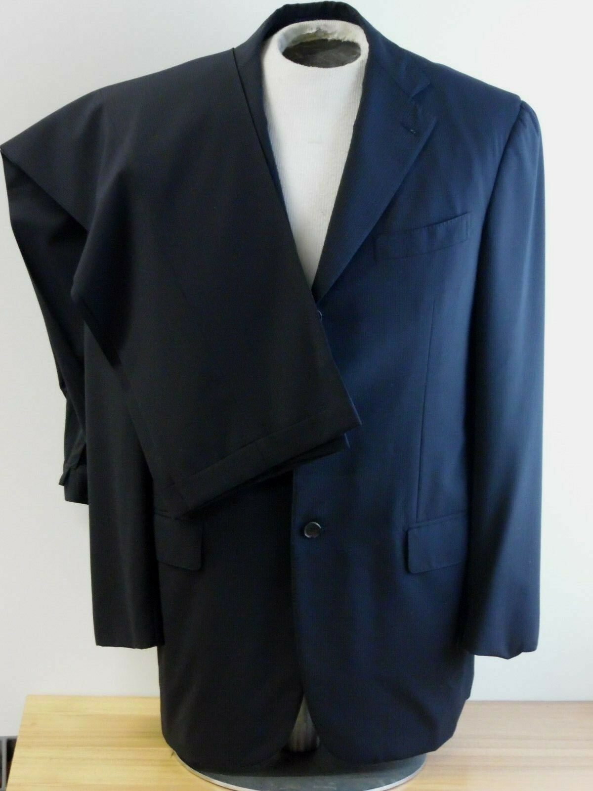 Gianluca Isaia Napoli Suit spider 120's Navy w  light pin striped 41 R  34x30