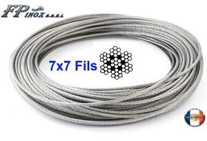Cable-inox-316-A4-7X7-49-fils-Diametre-1mm-1-5mm-2mm-3mm-4mm-5mm-6mm