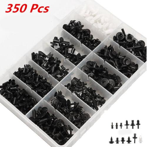 350Pcs//Set Car Push Retainer Pin Rivet Moulding Trim Clip Panel Assortments Kit