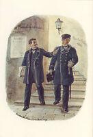 AK: Reichspostverwaltung, Postdirektor, Postsekretär, 1871
