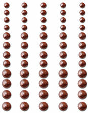 Queen & Co PEARLS-CHOCOLATE 60 Pcs 3 Sizes Self-Adhesive ART Scrapbooking