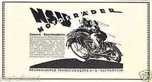 NSU-moto-Publicite-de-1925-Publicite-Neckarsulm-Mosel-AD-Motorbike