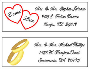120 wedding return address labels ebay
