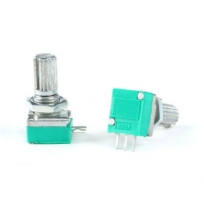 2pcs B50K Single 3-Pin Audio//Amplifier //Sealed Potentiometer Shaft Length15mm