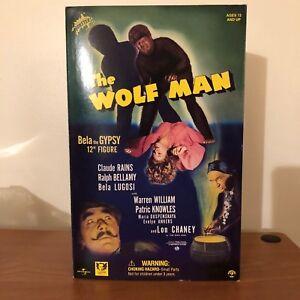 Universal-Monsters-Wolf-Man-Bela-the-Gypsy-12-034-Figure-Sideshow-Lugosi-MINT-NIB