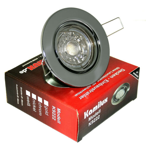 Dimmbar IP20 Spot 220V Schwenkbar LED Einbauleuchten Tom K9222 5W
