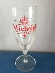 1933 Michelob King Of Drought Beer Glass Rare 1933 Anheuser-Busch Stem Ware