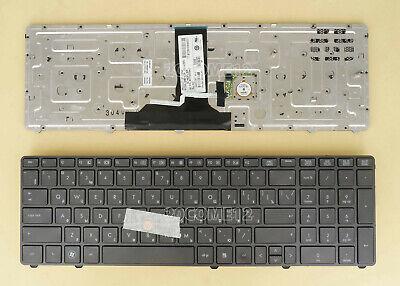 New For HP Elitebook 8760w 8770w Keyboard Russian RU with Frame No Backlit