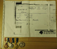 Military WW1 Mons Star Trio Medal Group With Clasp Northamptonshire Regt (4173