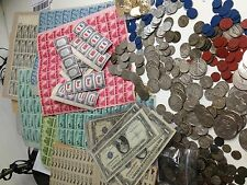 HUGE ESTATE LOT WWII BU COINS SILVER CURRENCY Ration Stamps/Tokens Postage #%25