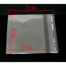 100 Plastic Bags 25x2 Self Adhesive Resealable Crystal Clear Us Seller